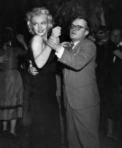 Marilyn Monroe and Truman Capote 1955 ** I.V.